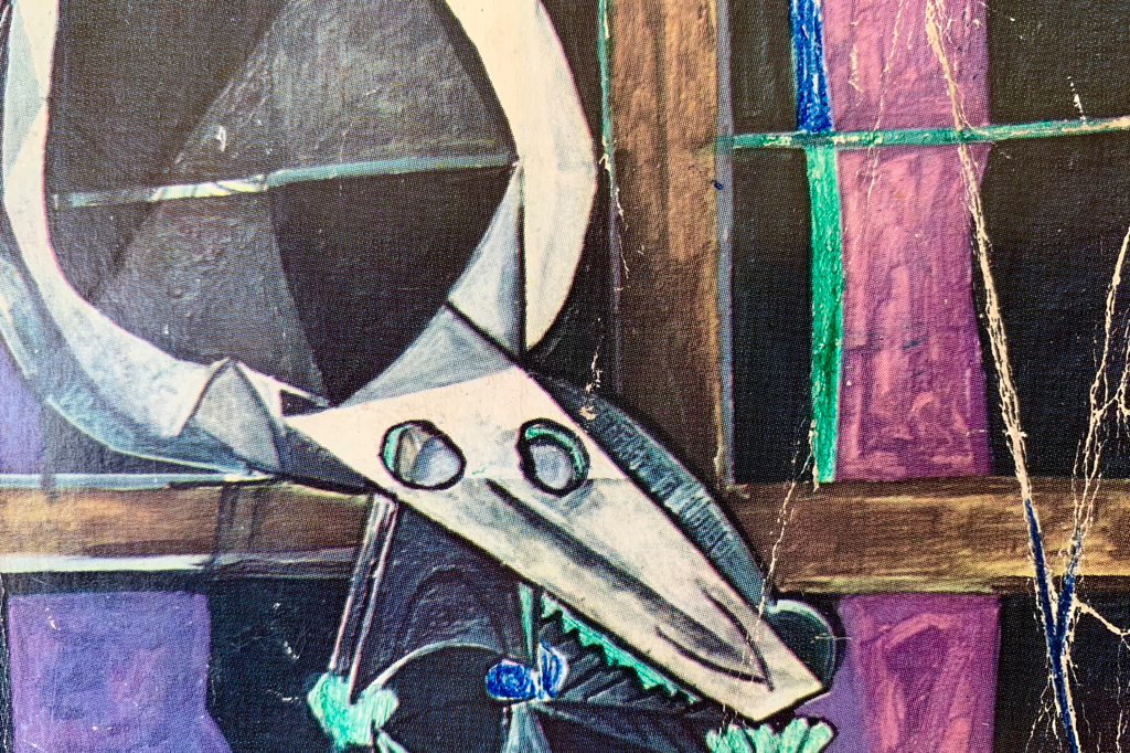 Detail of a detail from 'Nature morte au crane de boeuf' by Pablo Picasso